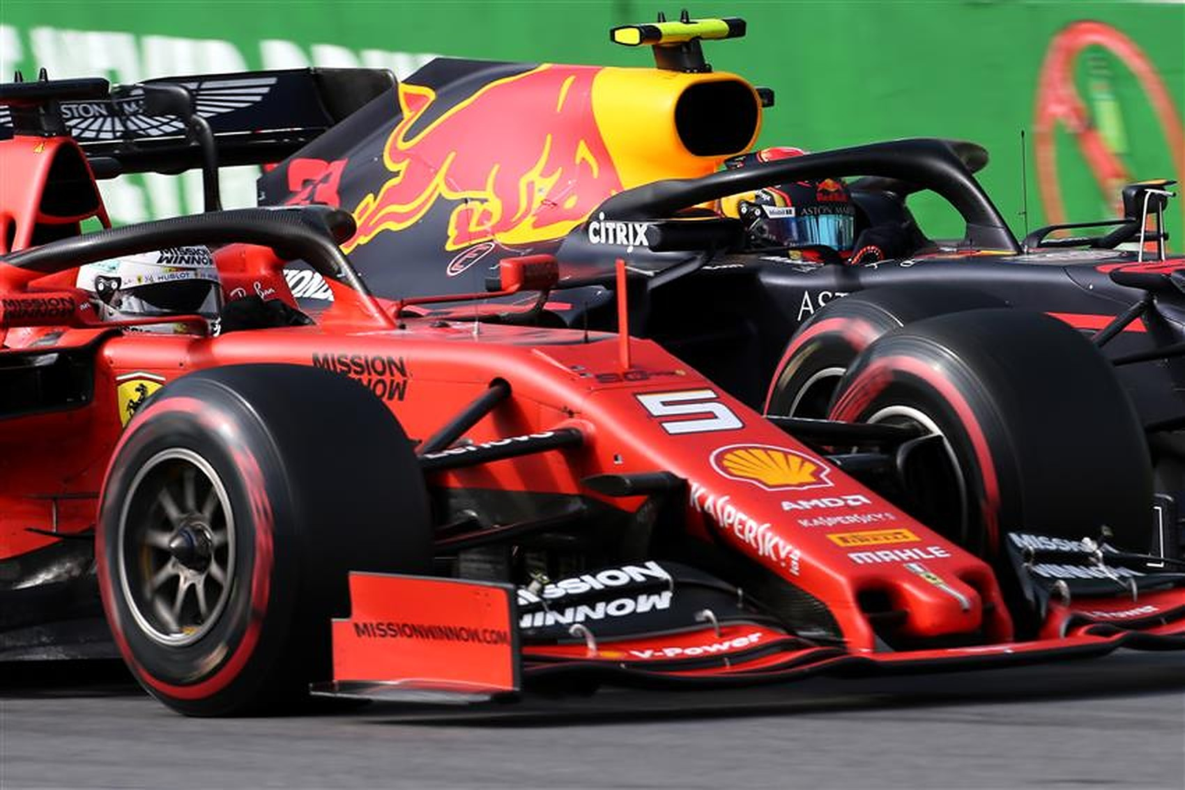 Sebastian Vettel and Alex Albon 2019 - Formula1News.co.uk