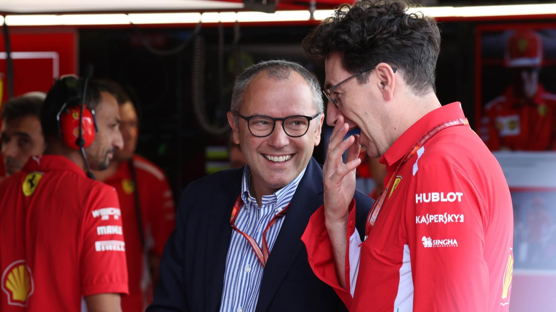 Stefano Domenicali and Mattia Binotto Ferrari