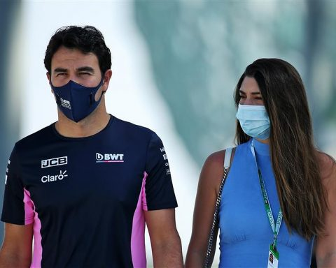 2021 Red Bull driver Sergio Perez and his wife - Formula1News.co.uk