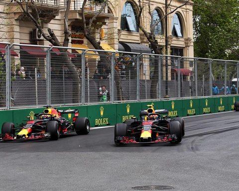 Daniel Ricciardo and Max Verstappen at Red Bull, Azerbaijan 2018 - Formula1news.co.uk