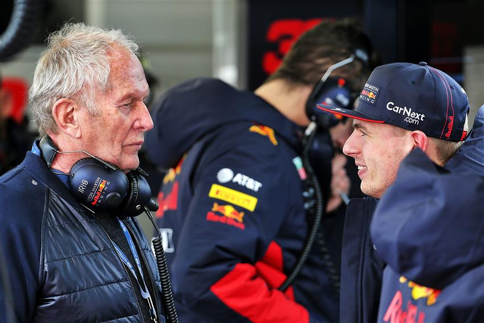 Max Verstappen and Helmut Marko at Red Bull F1 team in 2020 - Formula1News.co.uk