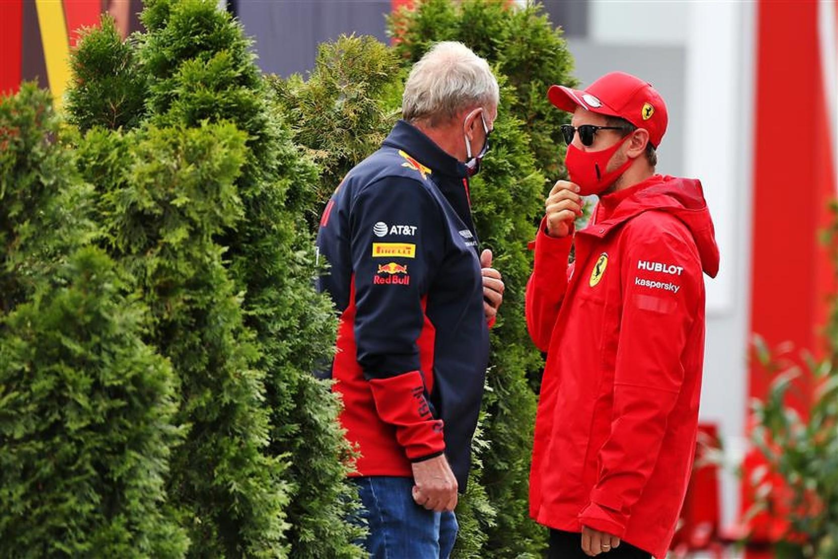 Sebastian Vettel and Aston Martin Red Bull advisor Helmut Marko - Formula1News.co.uk