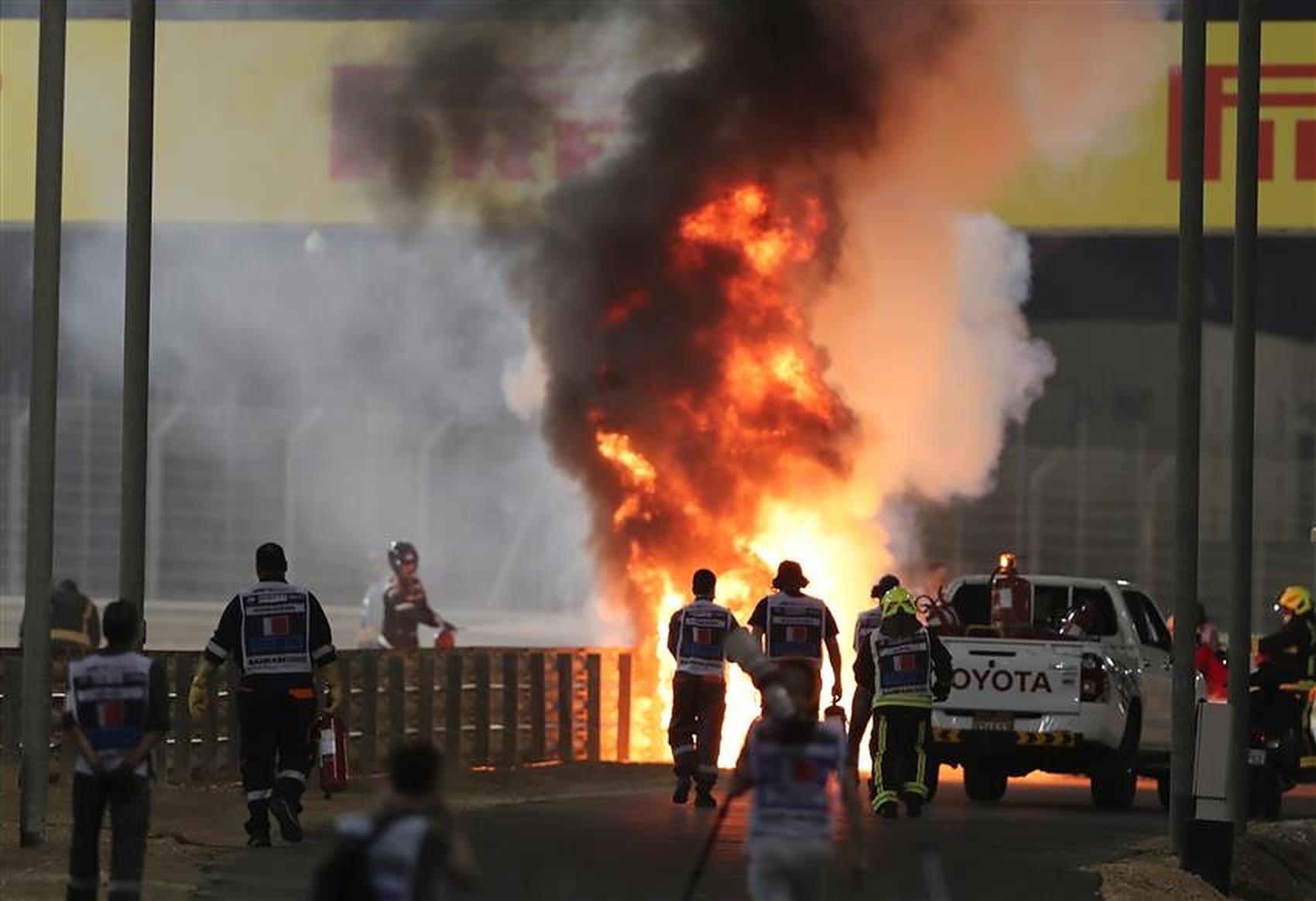 Sebastian Vettel speaks about Romain Grosjean's fiery crash at Bahrain GP - Formula1news.co.uk