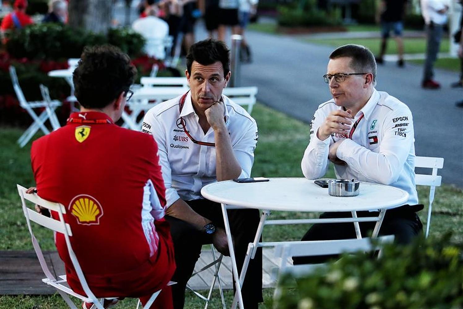 Andy Cowell, Toto Wolff and Mattia Binotto - Formula1news.co.uk