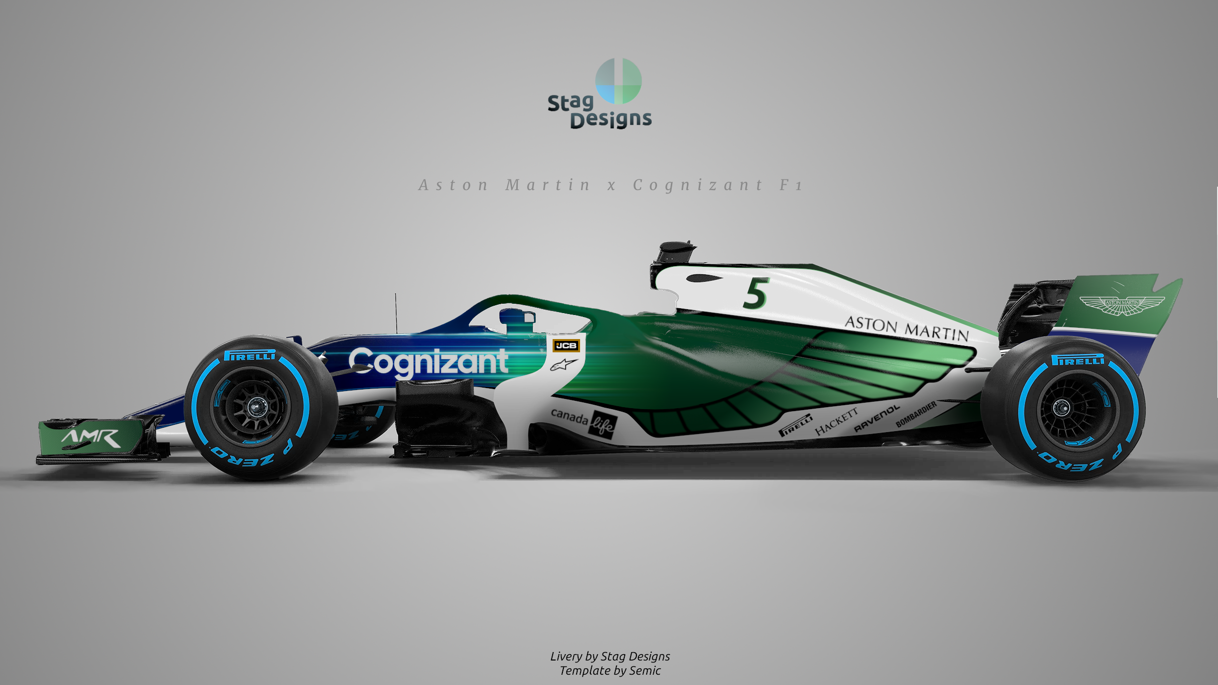 Aston Martin Racing 2021 green F1 Cognizant livery concept - Formula1news.co.uk