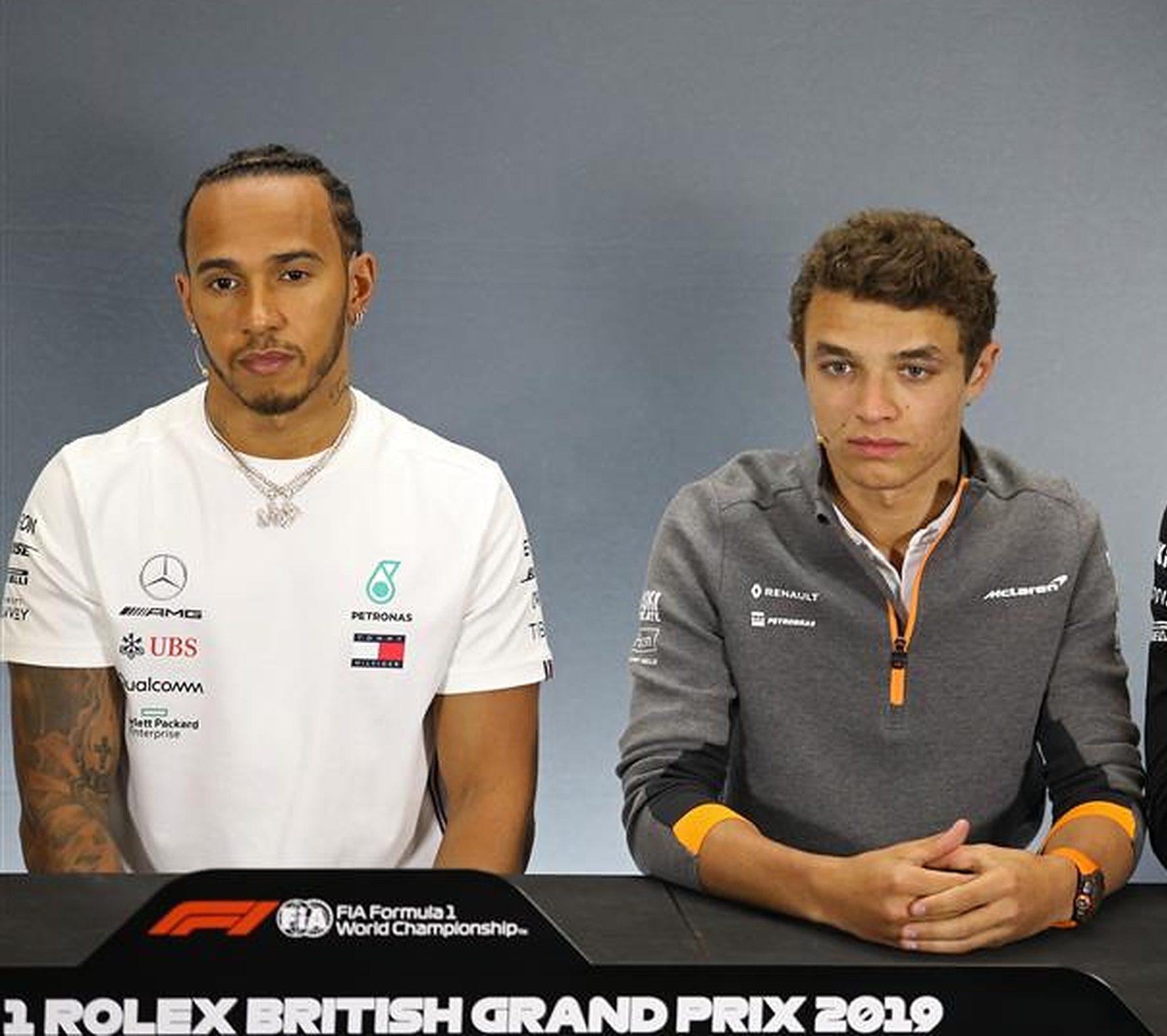 Lando Norris and Lewis Hamilton, F1 press conference - Formula1news.co.uk