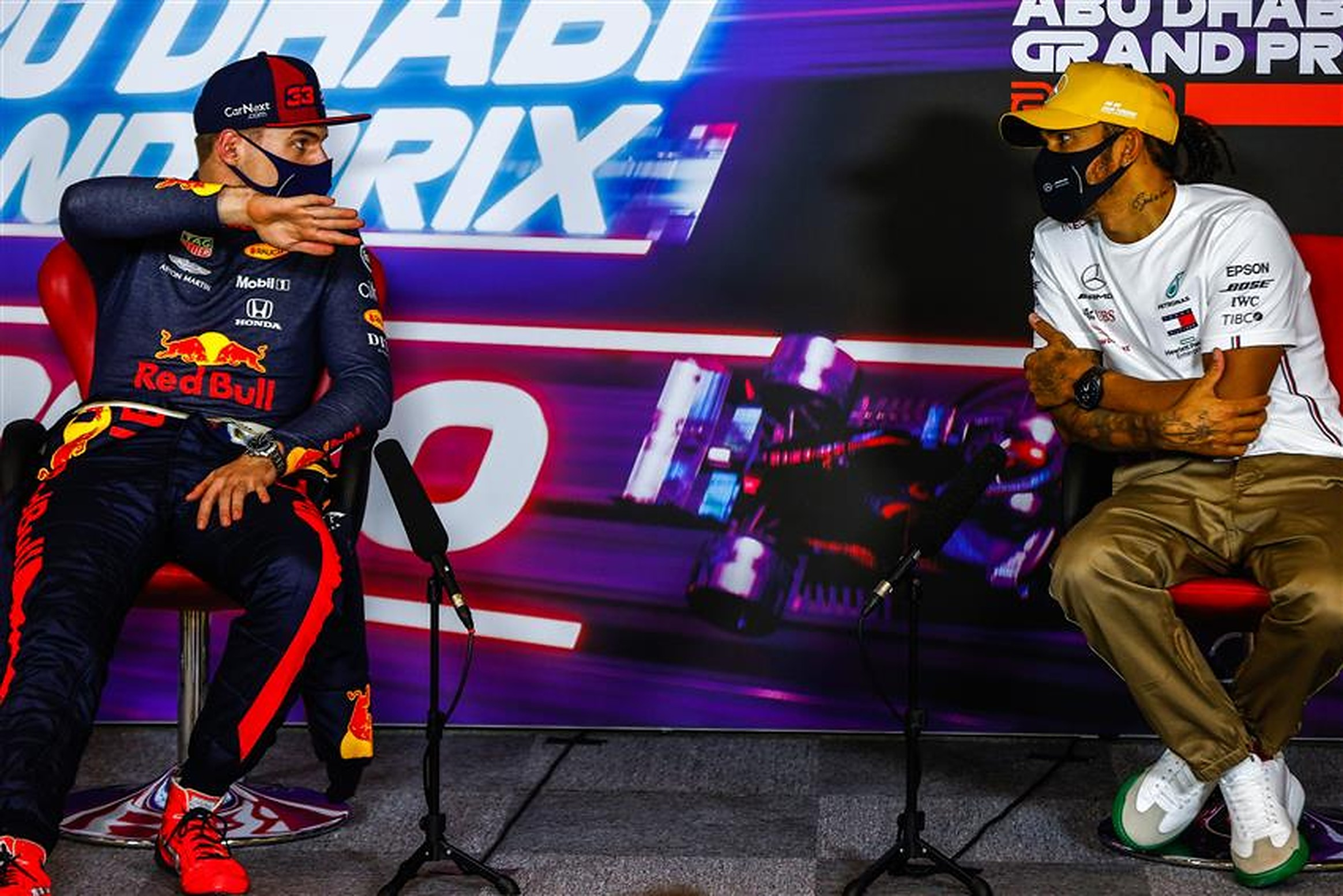 Lewis Hamilton and Max Verstappen amid Mercedes rumours - Formula1news.co.uk