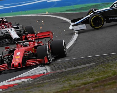 Sebastian Vettel and George Russell 2020 - Formula1news.co.uk