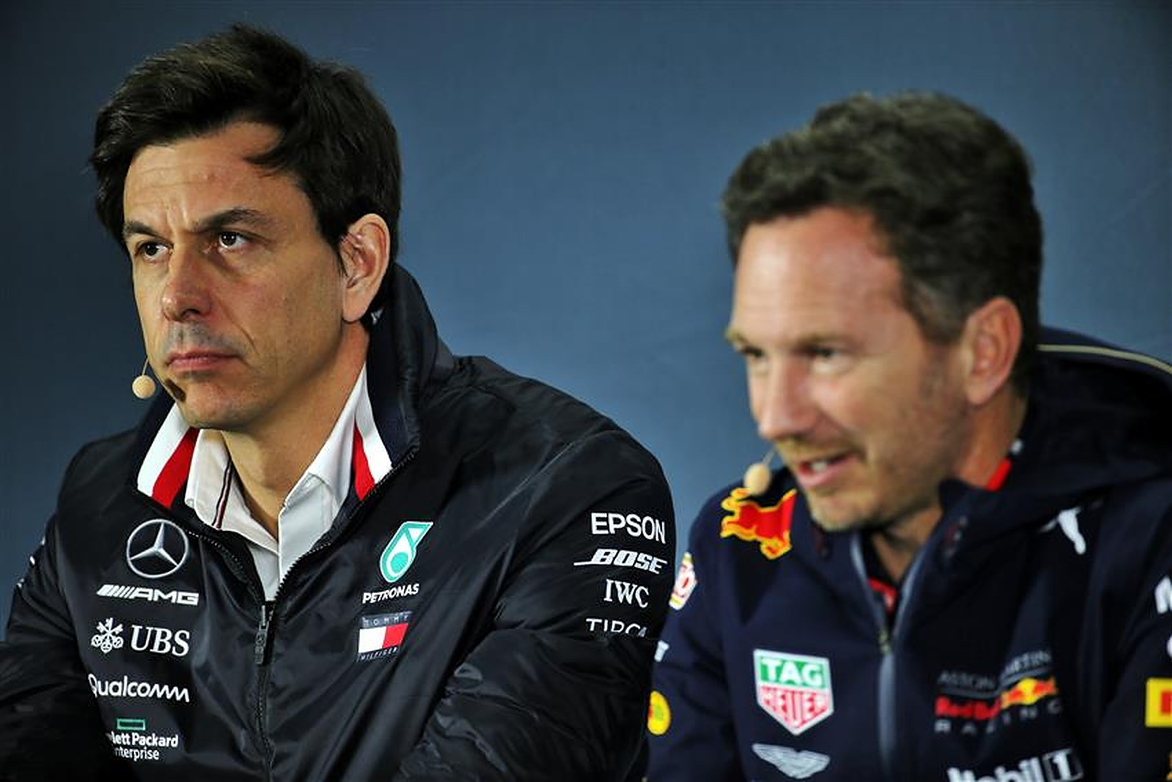 Christian Horner and Toto Wolff - Formula1news.co.uk