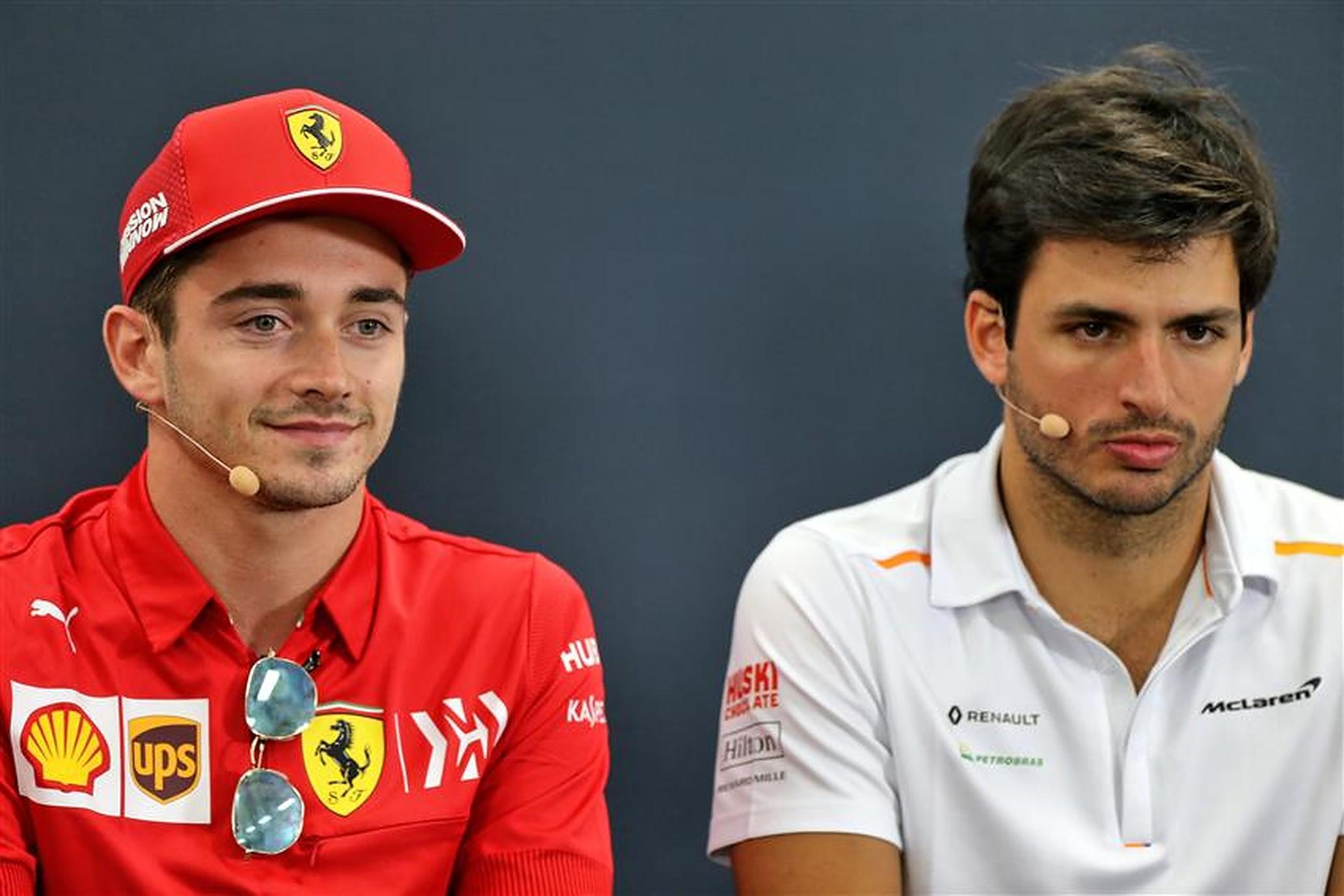Ferrari drivers Charles Leclerc & Carlos Sainz - Formula1news.co.uk