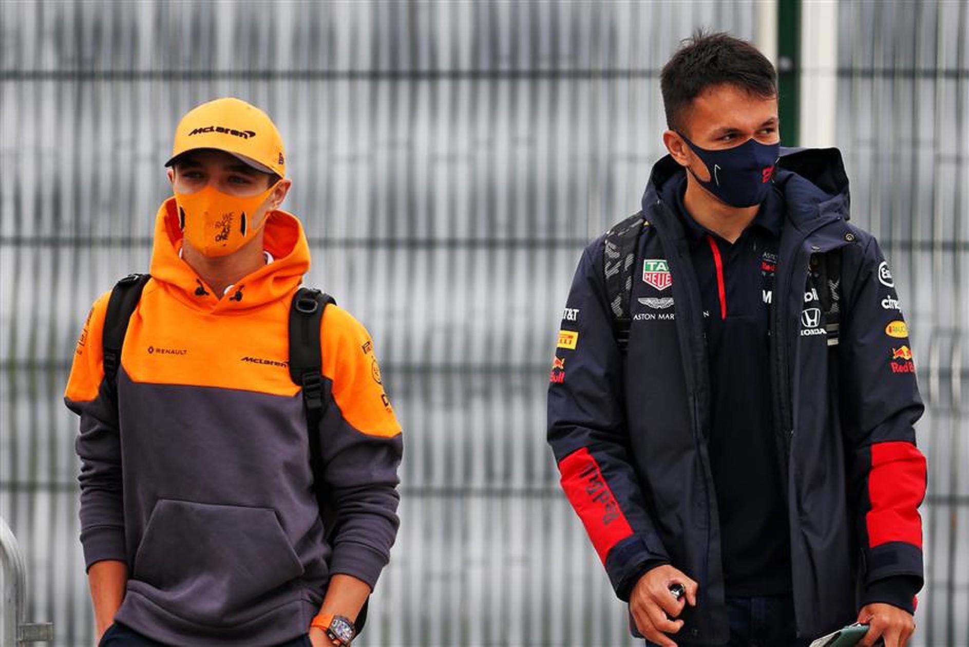 Lando Norris and Alex Albon in 2020 - Formula1news.co.uk