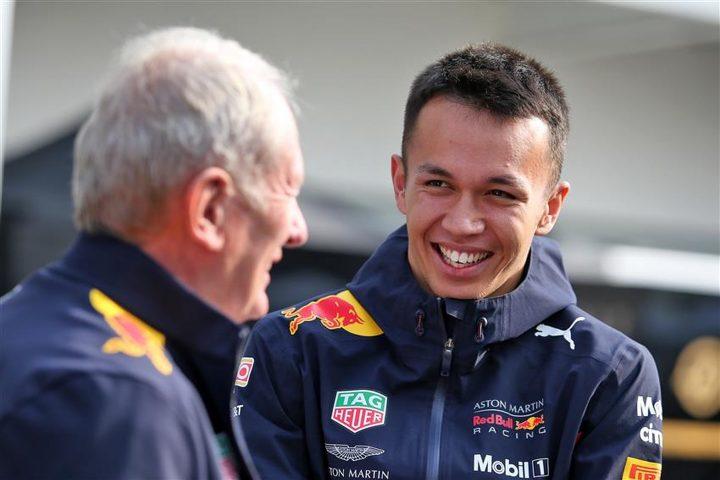 Alex Albon and Helmut Marko in the F1 paddock - Formula1news.co.uk