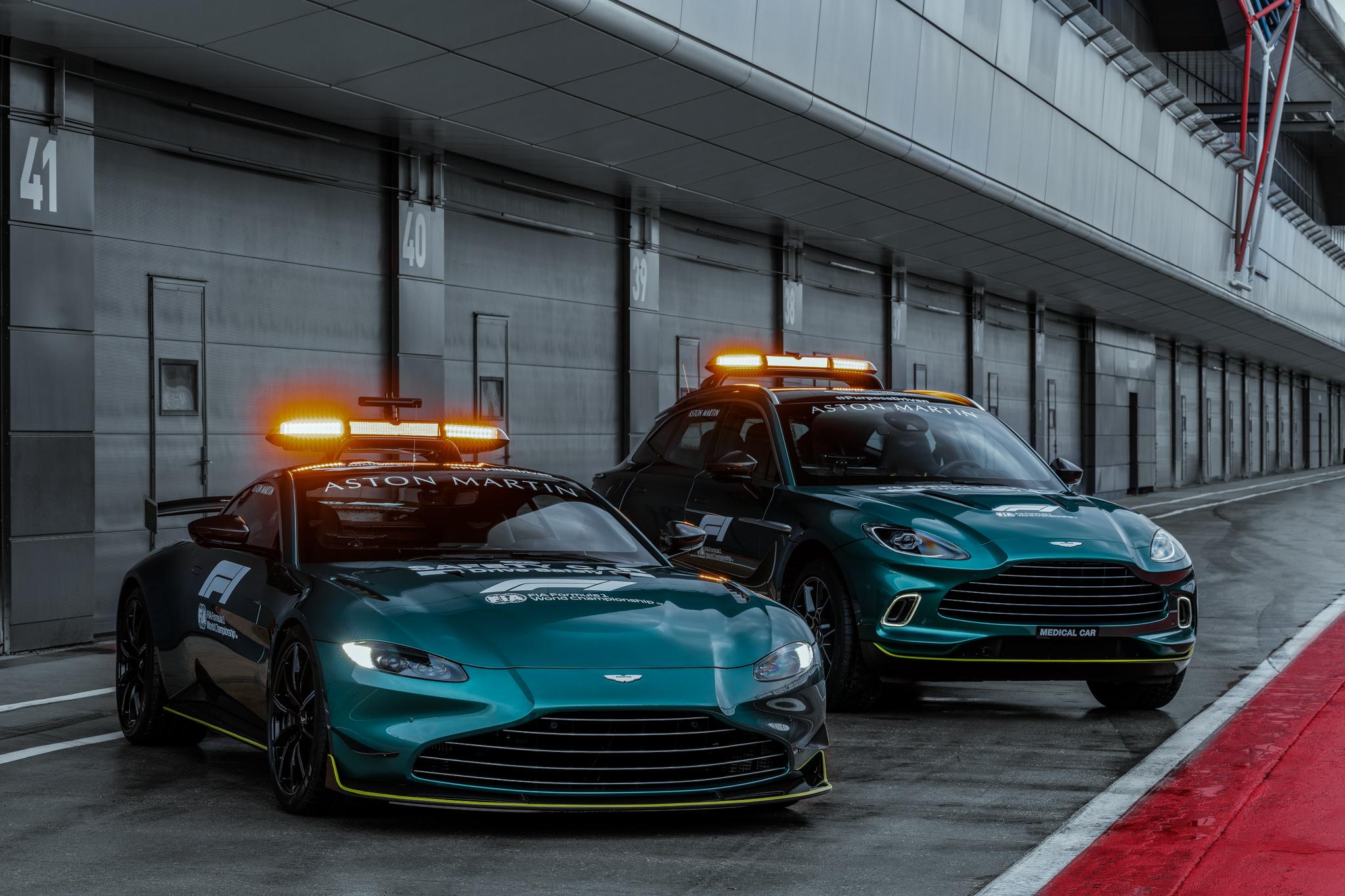 Aston Martin safety and medical car
