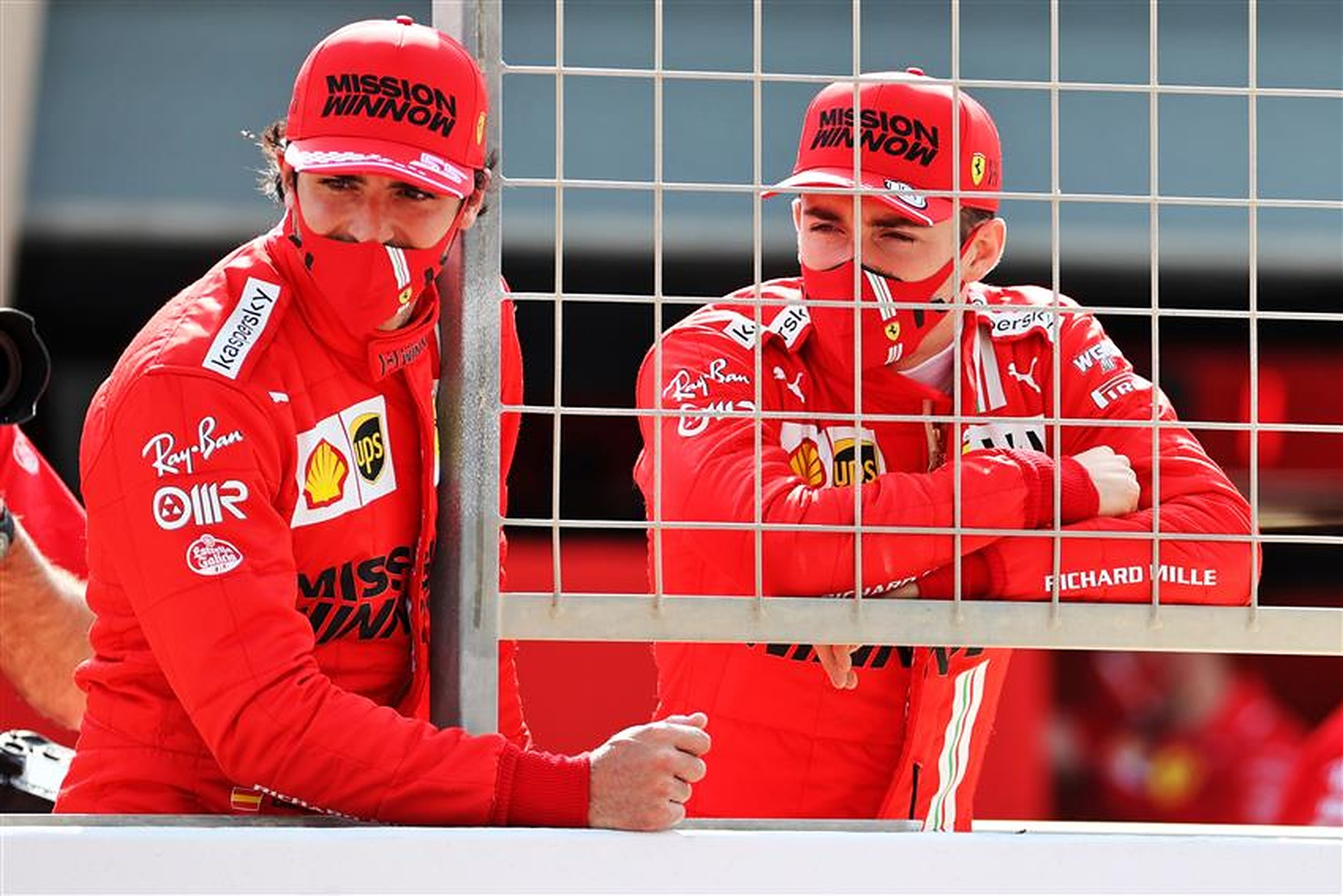 Carlos Sainz and Charles Leclerc at Ferrari 2021 - Formula1news.co.uk