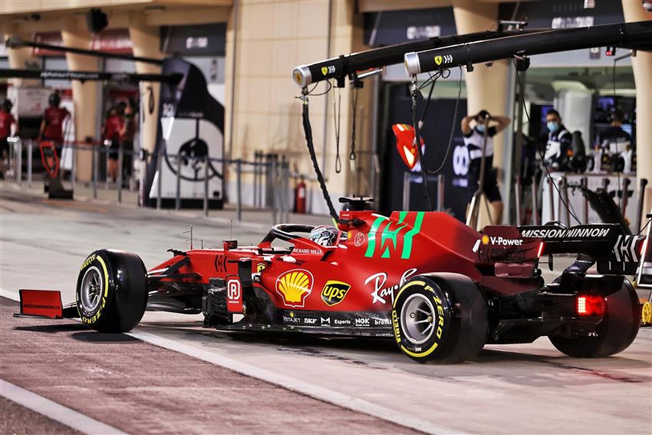 Charles Leclerc in the Ferrari SF21 at Bahrain - Formula1news.co.uk