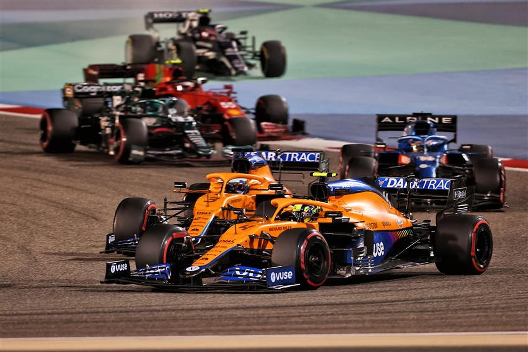 Daniel Ricciardo and Lando Norris at 2021 Bahrain GP with McLaren - Formula1news.co.uk
