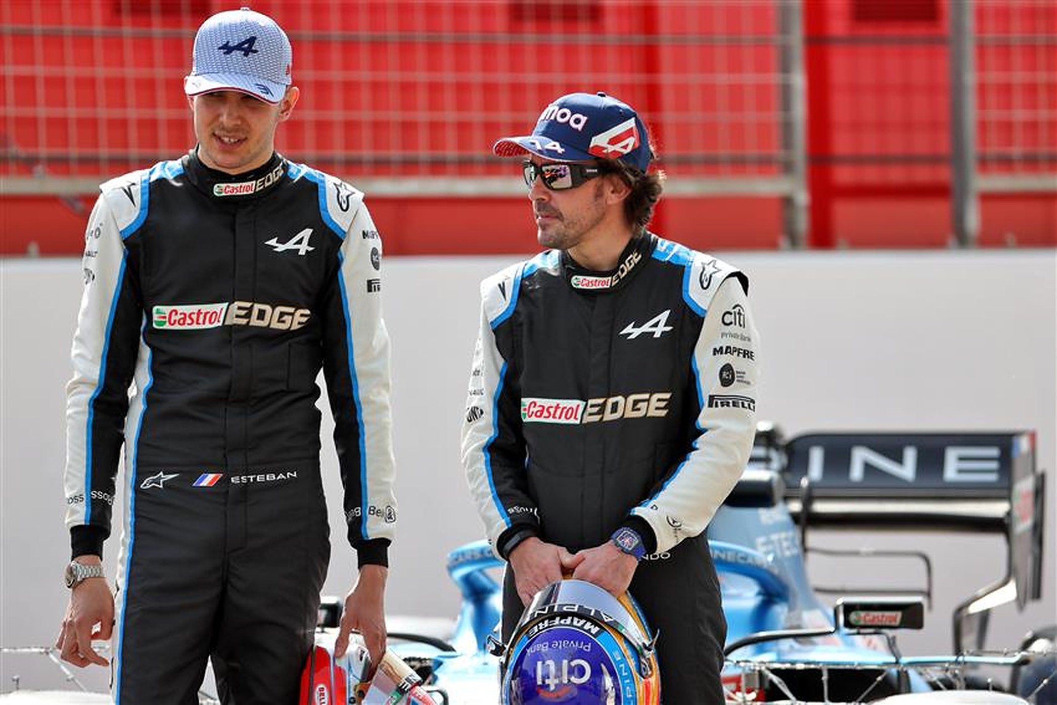 Fernando Alonso and Esteban Ocon at Alpine in 2021 Bahrain - Formula1news.co.uk