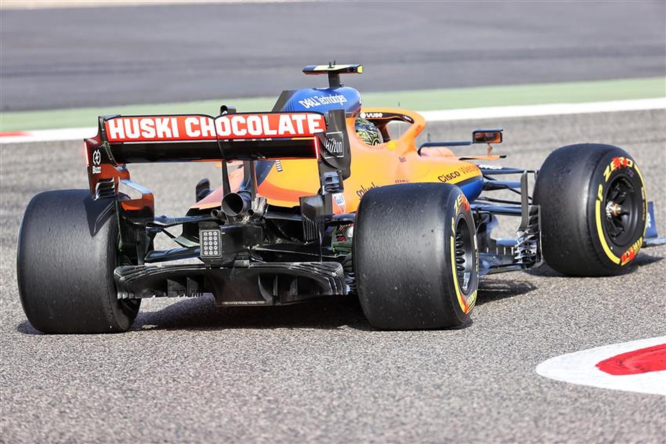 McLaren 2021 car rear diffuser at Bahrain - Formula1news.co.uk