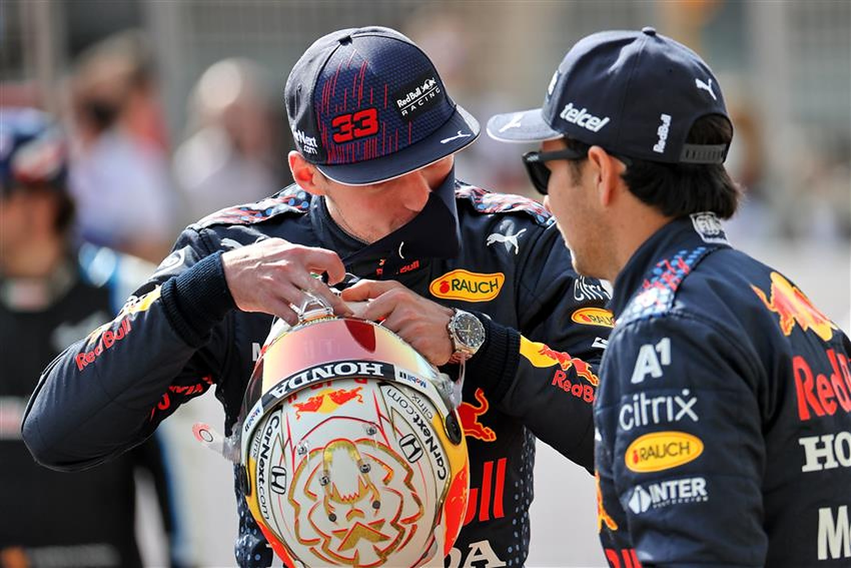 Sergio Perez and Max Verstappen at Red Bull 2021 - Formula1news.co.uk