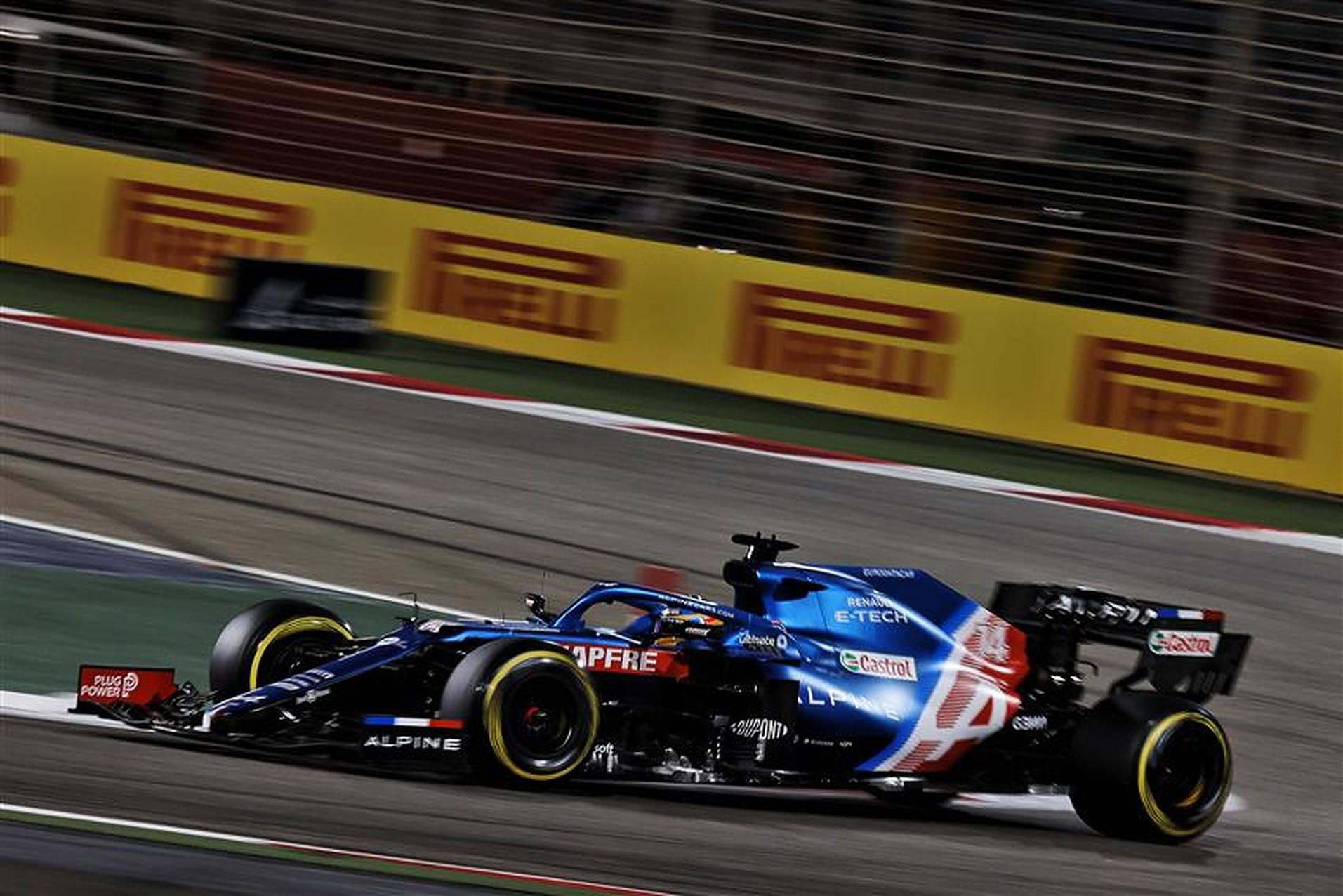 Fernando Alonso at 2021 Bahrain GP in Alpine car - Formula1news.co.uk