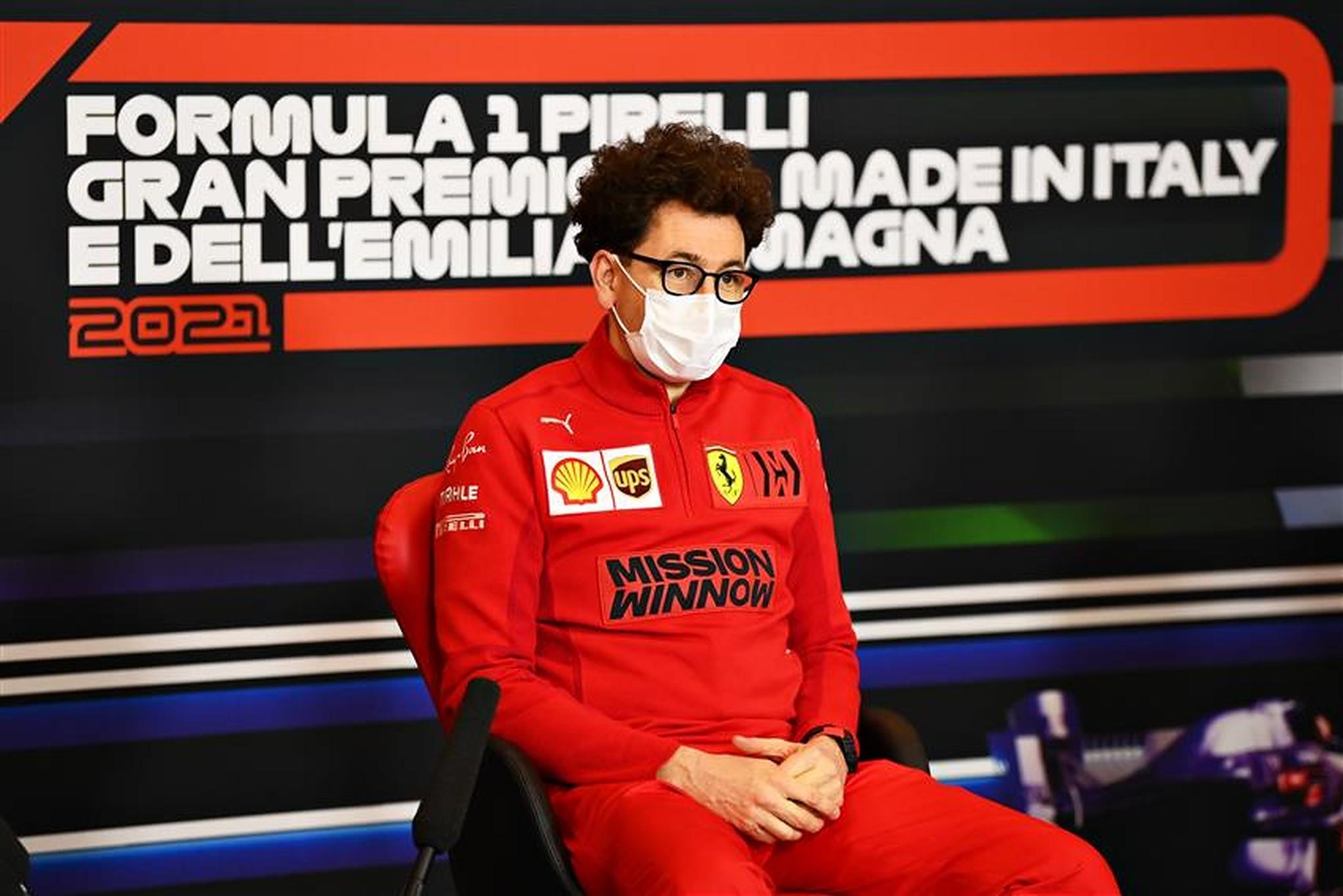 Ferrari team principal Mattia Binotto at Imola in 2021 - Formula1news.co.uk