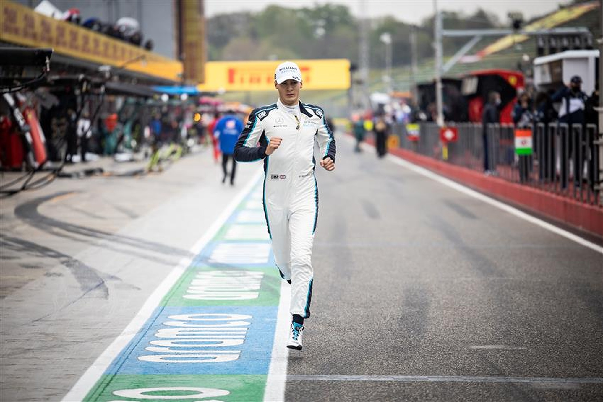 George Russell in the pitlane at Imola - Formula1news.co.uk