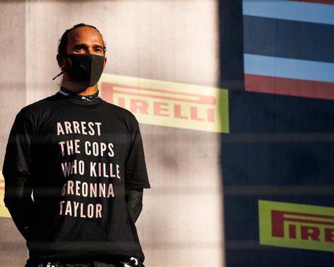 Lewis Hamilton Breonna Taylor t-shirt at 2020 Tuscan GP - Formula1news.co.uk