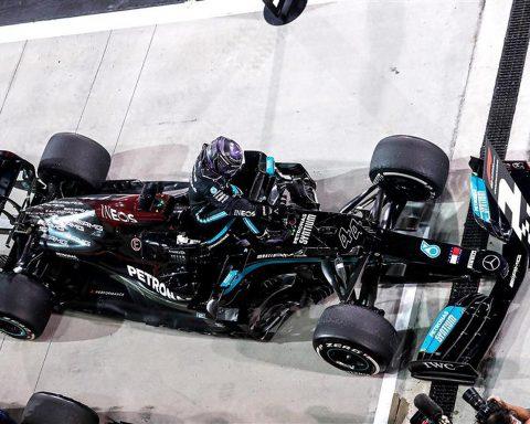 Lewis Hamilton after winning 2021 Bahrain GP - Formula1news.co.uk