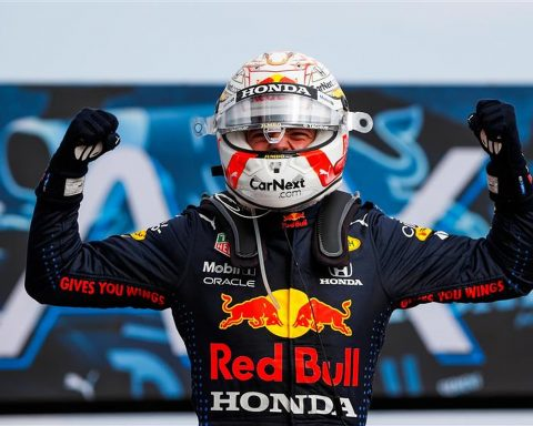Max Verstappen after winning at Imola in 2021 - Formula1news.co.uk