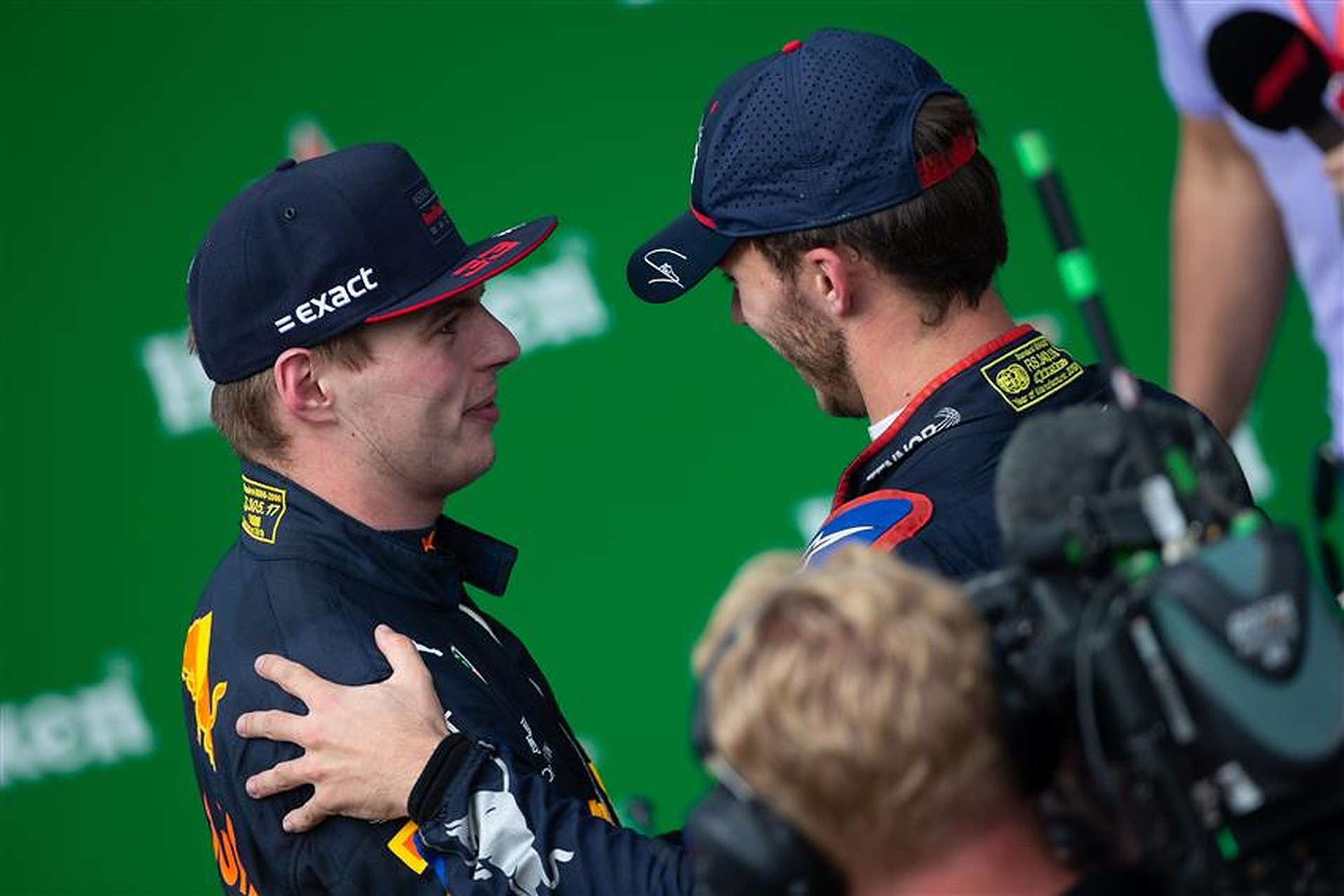 Max Verstappen and Pierre Gasly - Formula1news.co.uk
