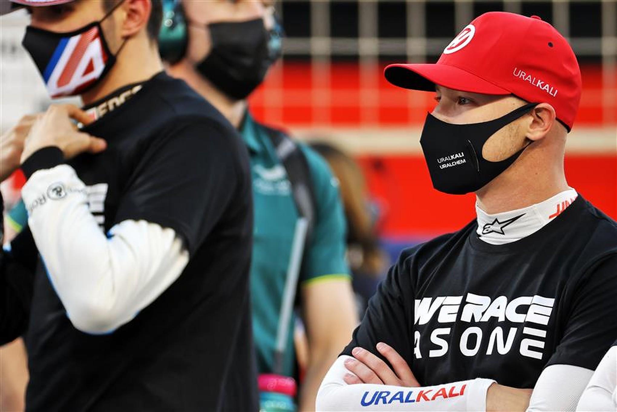 Nikita Mazepin on the grid at Bahrain - Formula1news.co.uk