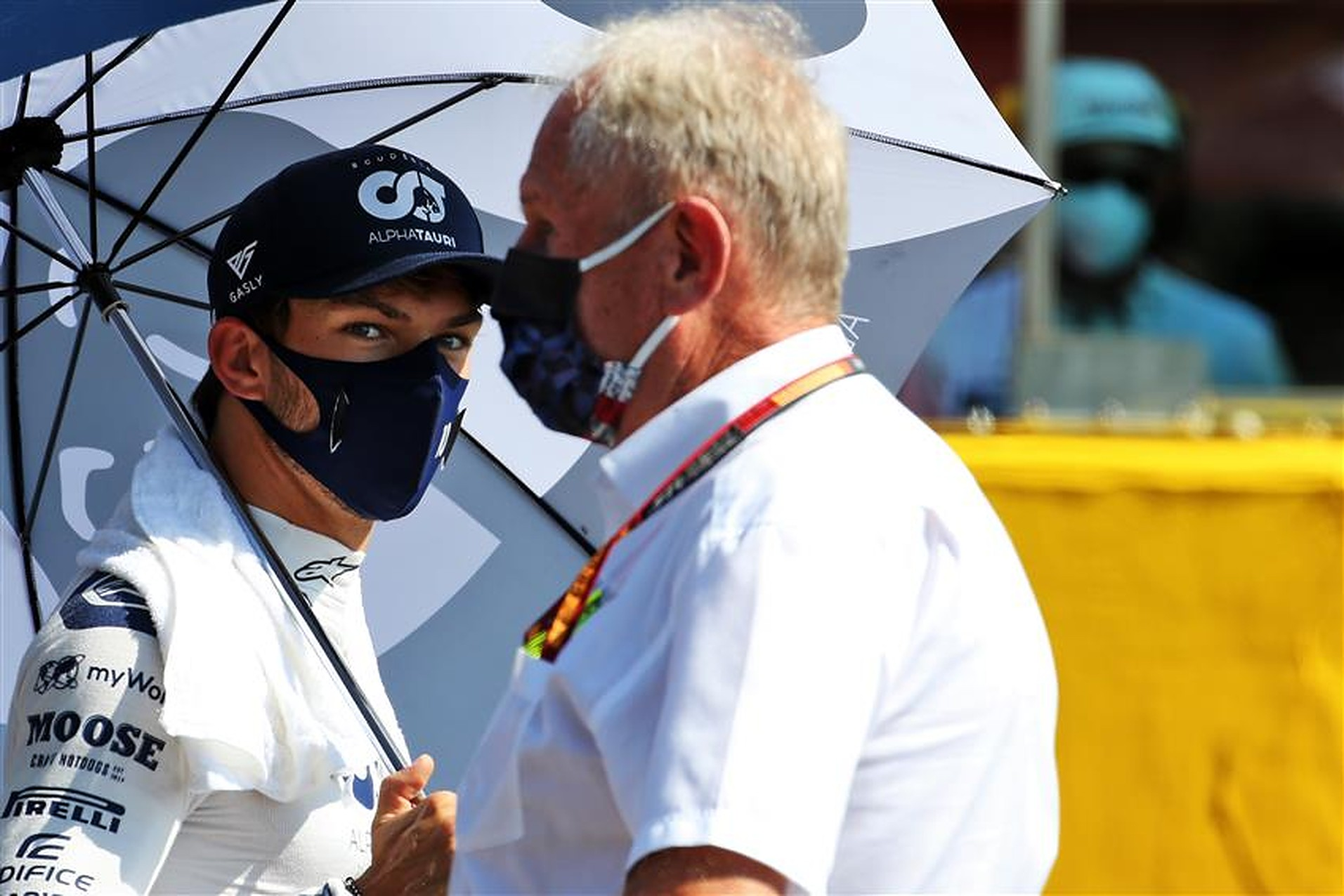 Pierre Gasly and Helmut Marko - Formula1news.co.uk
