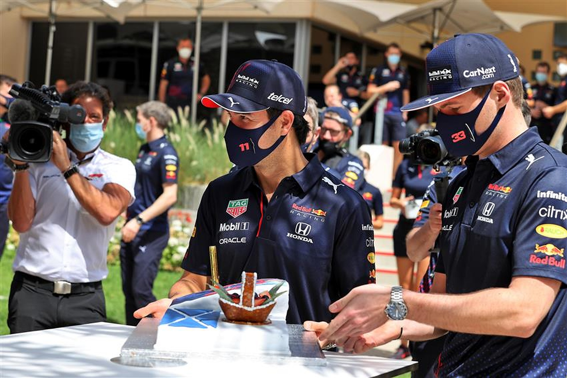 Sergio Perez and Max Verstappen at Bahrain - Formula1news.co.uk