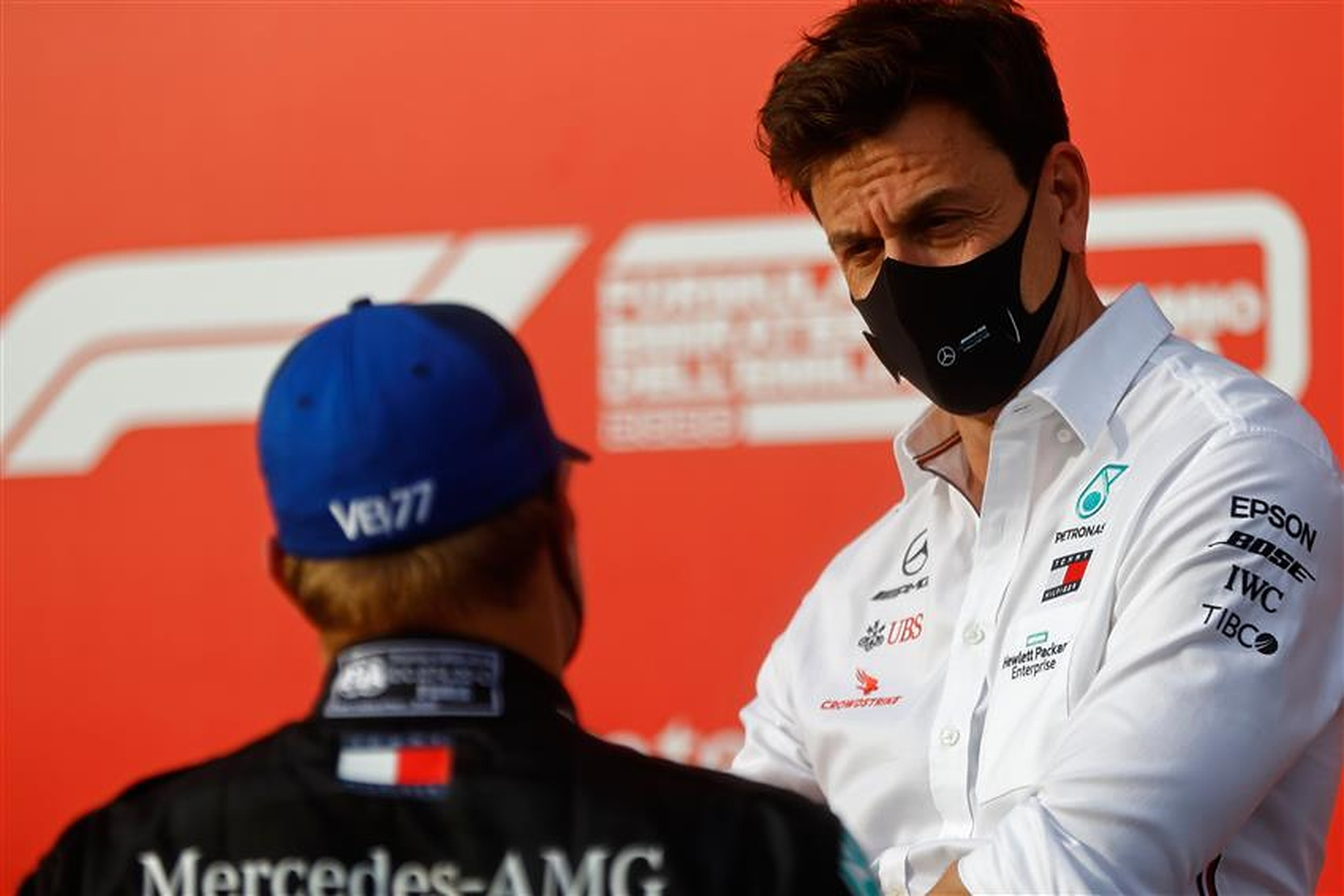 Valtteri Bottas and Toto Wolff - Formula1news.co.uk
