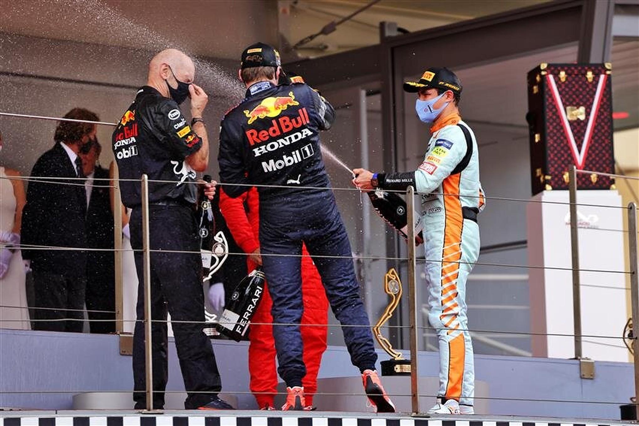 Lando Norris and Max Verstappen at Monaco 2021 - Formula1news.co.uk