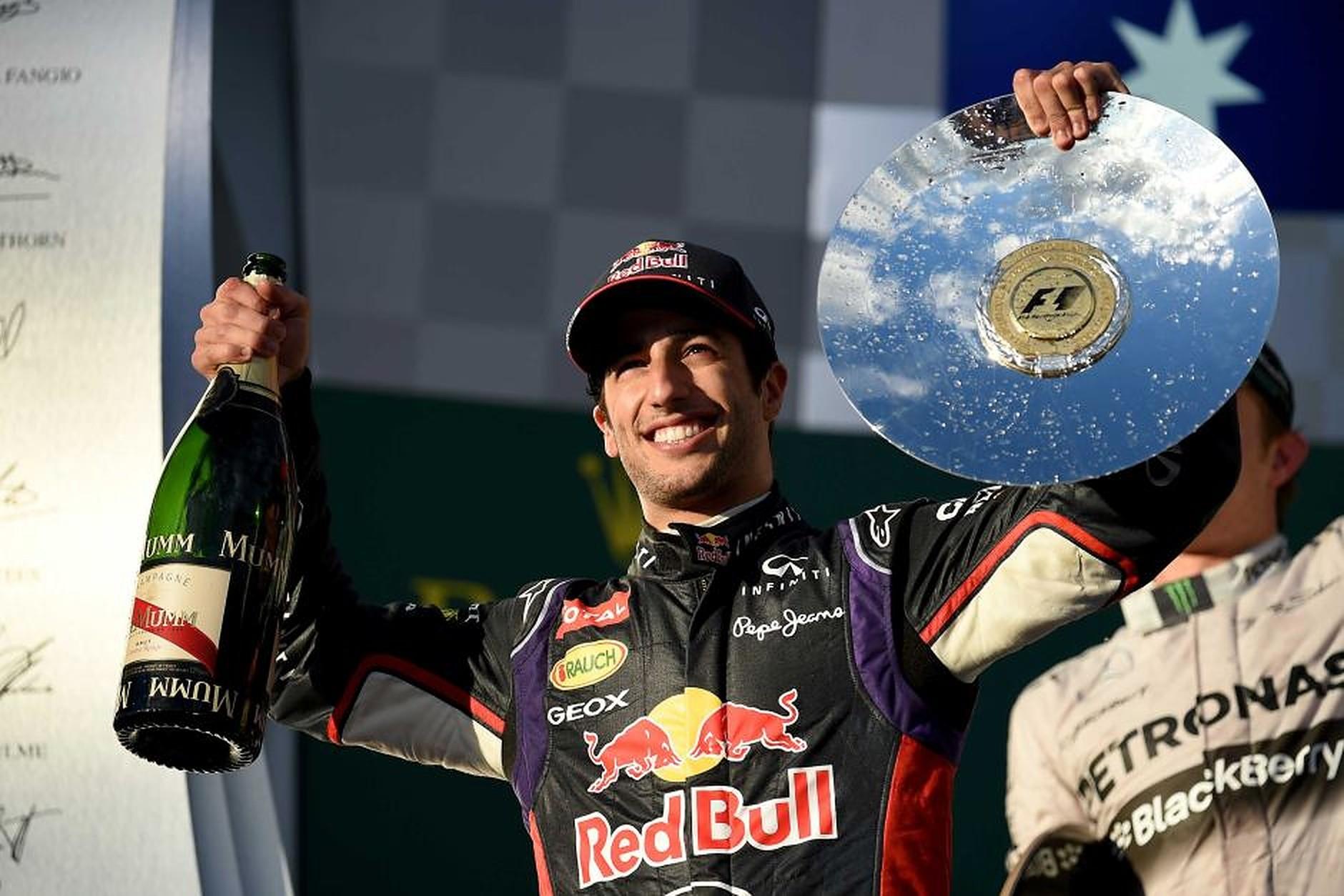 Daniel Ricciardo on the podium in 2014 - Formula1news.co.uk.v1